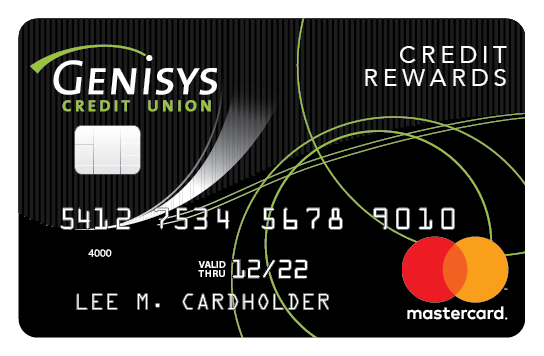 Genisys Credit Union Credit Rewards Mastercard® shown