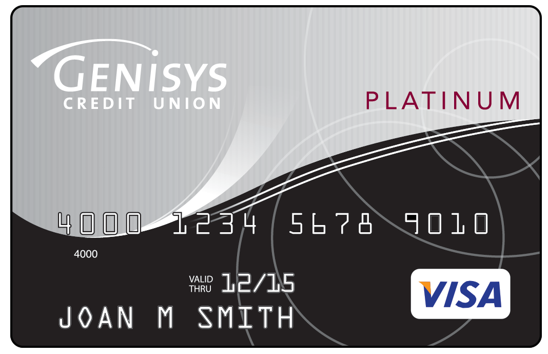 Genisys Visa Platinum shown