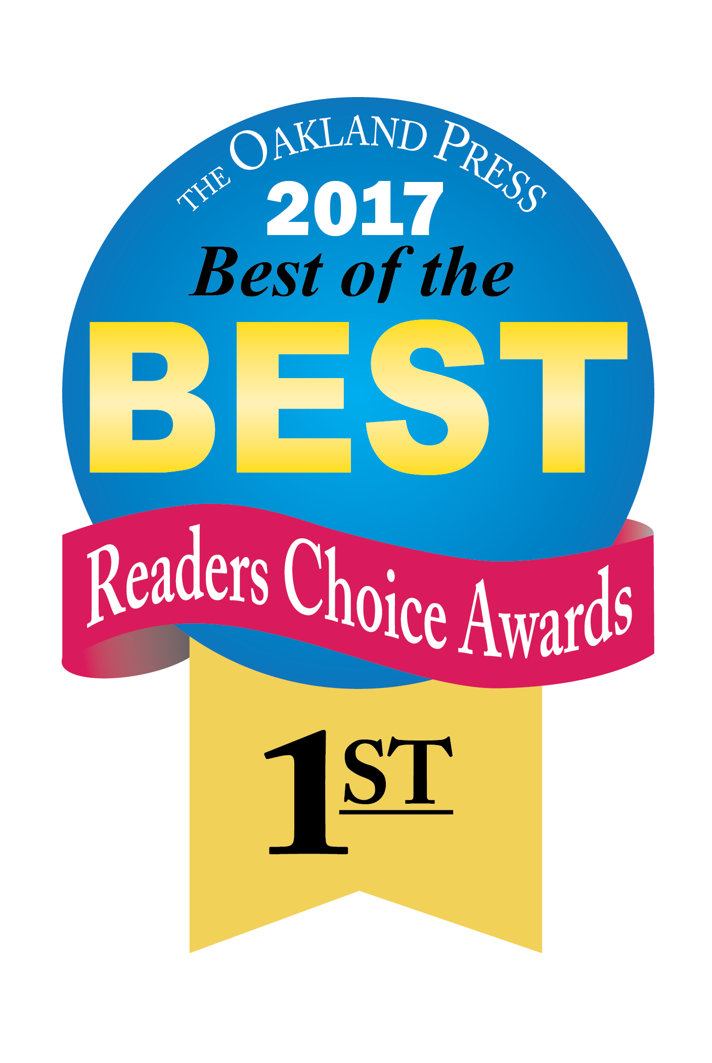 Genisys won 1st place in the Oakland Press's best of the best readers choice awards 2017