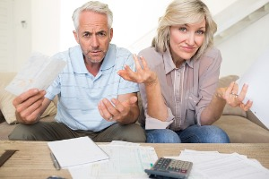 Mature couple curious about bills