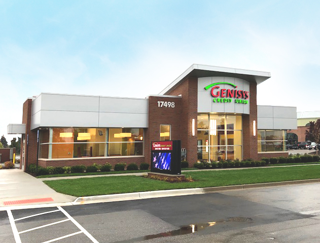 Photograph of Genisys Credit Union's Clinton Township Branch