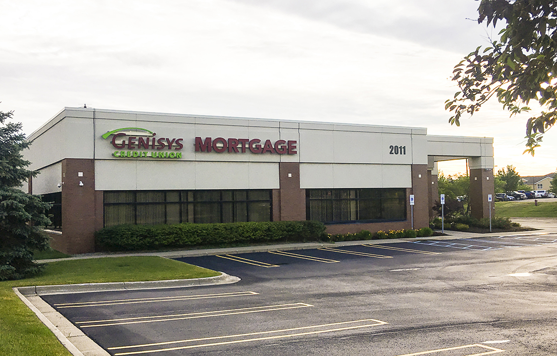 Photograph of Genisys Credit Union's Mortgage Services Building