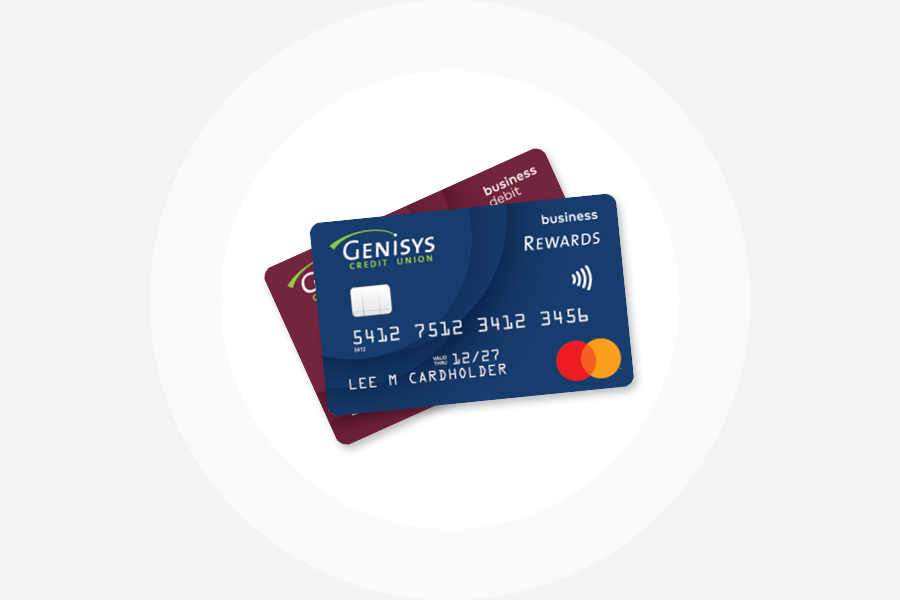 Genisys Business Debit Rewards and Business Credit Rewards Mastercard