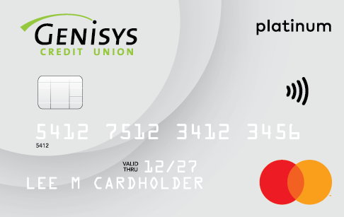Genisys Credit Union Credit Platinum Mastercard card artwork