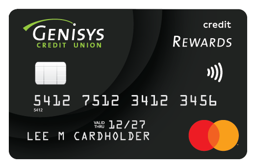 Genisys Credit Union Credit Rewards Mastercard card artwork