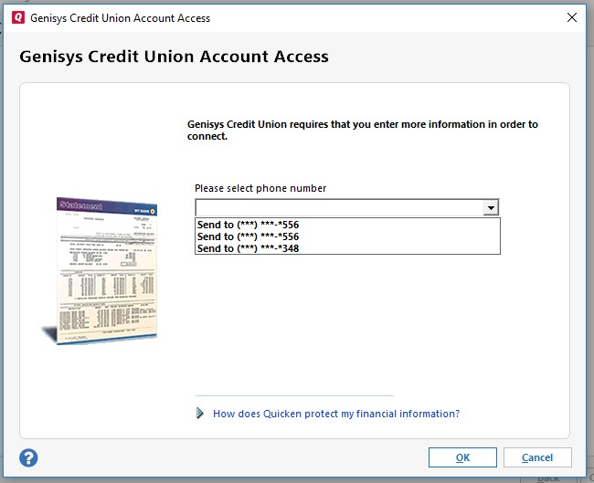 Account Access Screen with Phone Numbers