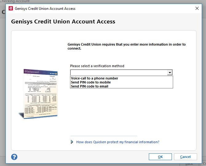 Genisys Account Access Screen