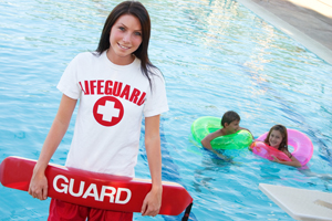 Teenage Lifeguard at pool