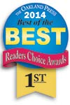 Genisys won 1st place in the Oakland Press's best of the best readers choice awards 2014